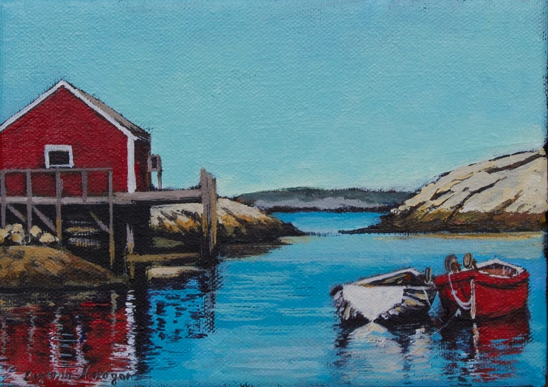 Peggys Cove Painting by Richard De Wolfe |Painting Artist Directory Cove